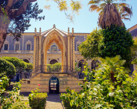 benedictine: Levante cloister of the Benedictine Monastery of San Nicola  the Arena, Catania Editorial