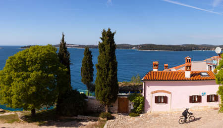 wetting: ROVINJ, CROATIA - APRIL, 16: View of Rovinj little city in Istria on April 16, 2016