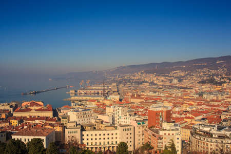 trieste: Top view of the Trieste roofs, Italy