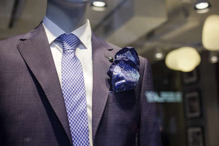 Close up of elegant male suit made in Italy Éditoriale