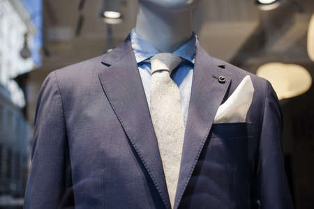 Close up of elegant male suit made in Italy Banque d'images