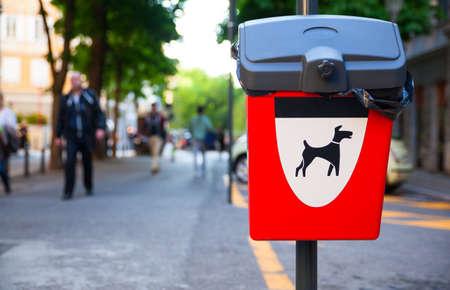 waste basket: Dog Waste Basket in the street