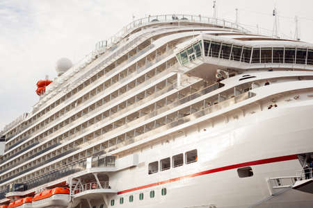 docked: TRIESTE, ITALY - MAY, 01: View of the newest carnival cruise ship docked in Trieste on May 01 2016 Editorial