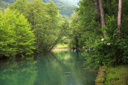 View of the river in the site of Palù di Livenza, Pordenone. Italy