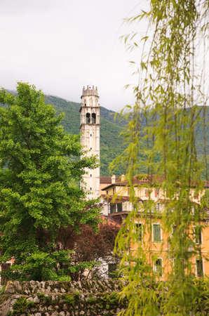 san giacomo: Bell tower of the San Giacomo Church in Polcenigo, Pordenone. Italy
