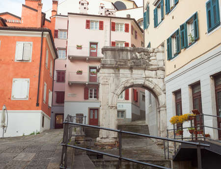 richard: The Arch of Richard, Roman monuments in Trieste - Italy Editorial