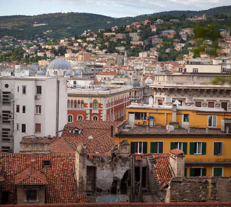trieste: Top view of the city of Trieste, Italy