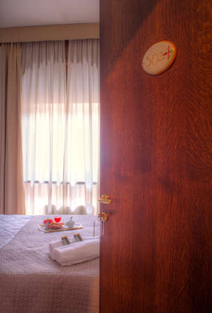 Double bedroom of the Ares Hotel, Milan