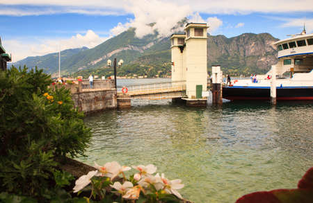 ferry boat: BELLAGIO, ITALY - JUNE, 12: Ferry boat in the lake Como on june 12, 2016