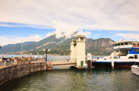 BELLAGIO, ITALY - JUNE, 12: Ferry boat in the lake Como on june 12, 2016