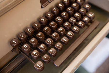 Close up of a Keyboard of ancient telex