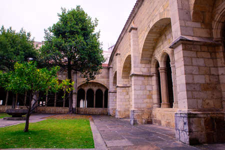 View of the Ghotic Cloister of the Santander cathedral, Spain