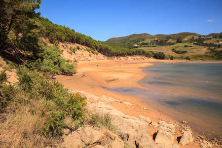 LIENCRES DUNES, SPAIN - AUGUST, 21: View of the Liencres dunes nature reserve in the Cantabrian sea on August 21, 2016 Stock Photo