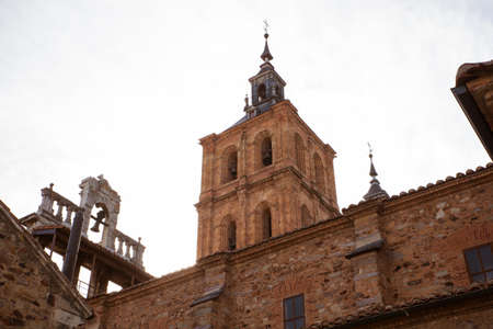 belltower: View of the Belltower of the Astorga cathedral, Spain Stock Photo