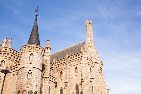 modernisme: View of the Episcopal Palace, Modernisme edifice in Astorga