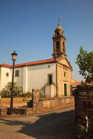way of st james: View of the Santa Eulalia church, O Pedrouzo, Spain