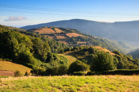 way of st james: View of Galicia landscape along the way of St. James