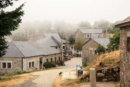 way of st james: View of typical houses of Cebreiro little town in Galicia