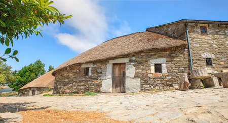 spanish home: The palloza, also known as pallouza or pallaza, is a traditional dwelling of Cebreiro and also the Serra dos Ancares of northwest Spain Stock Photo