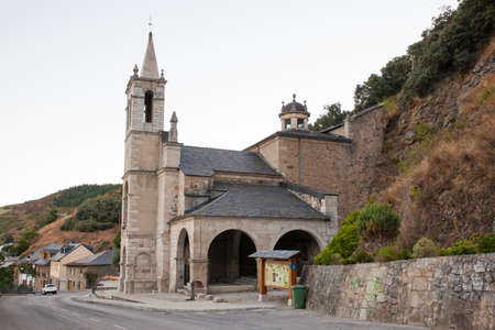 way of st james: Viewe of the Shrine of Las Angustias in Molinaseca, Spain