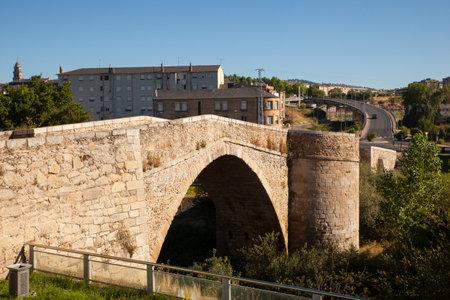 View of ancient stone bridge of Ponferrada