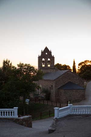 magdalena: View of the Parish Church of Santa Maria Magdalena of Riego de Ambros Stock Photo