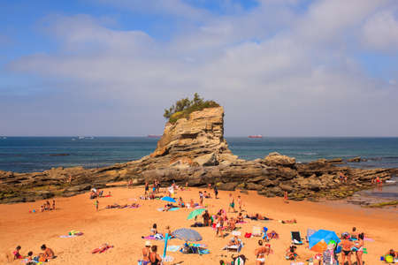 SANTANDER, SPAIN - AUGUST, 22: View of the camel beach on August 22, 2016