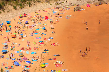 SANTANDER, SPAIN - AUGUST, 22: View of the la Matalena beach on August 22, 2016 Editorial