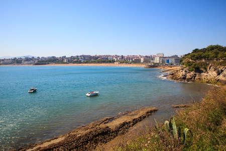 SANTANDER, SPAIN - AUGUST, 22: View of the Santander coast on August 22, 2016 Stock Photo