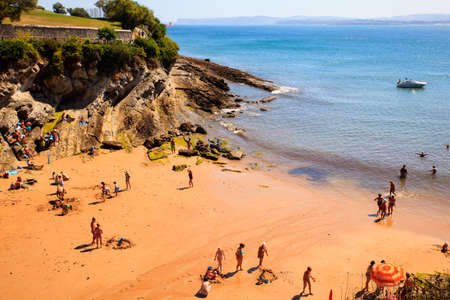 SANTANDER, SPAIN - AUGUST, 22: View of the Los Molinucos beach on August 22, 2016