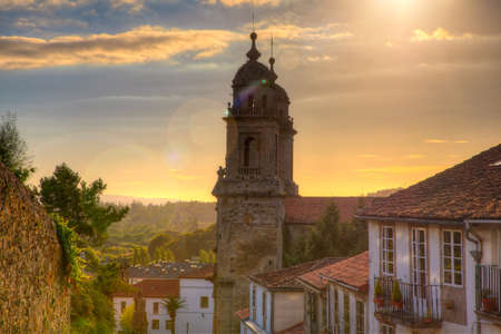 francis: Belltowers of the  Monastery of St. Francis, Santiago de Compostela  Stock Photo