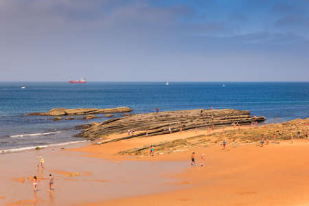 SANTANDER, SPAIN - AUGUST, 22: View of the Sardinero beach on August 22, 2016