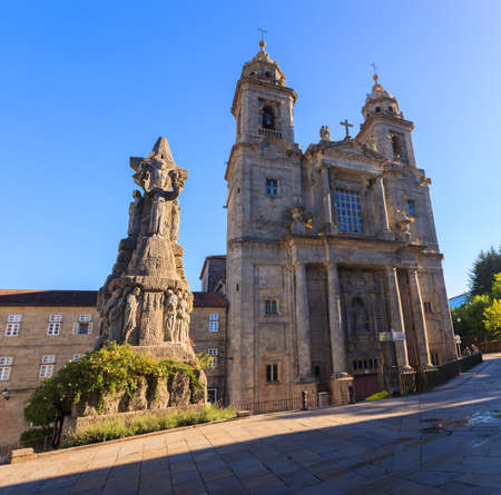 of assisi: Monastery of St. Francis and a monument to its founder St. Francis of Assisi,  Santiago de Compostela