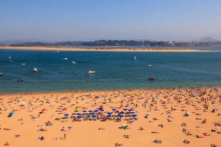 SANTANDER, SPAIN - AUGUST, 22: View of the Santander beach on August 22, 2016
