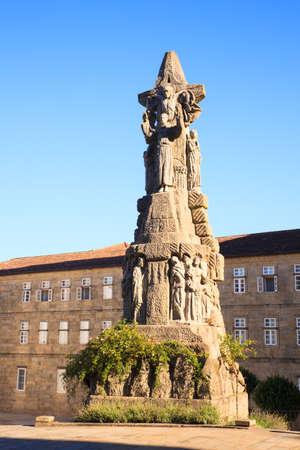 francis: Monument to St. Francis of Assisi, Santiago de Compostela