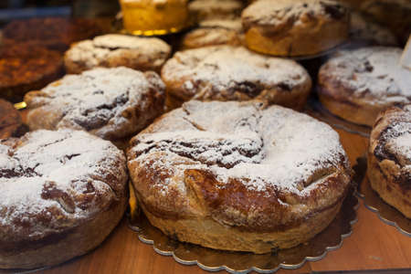 teacake: View of traditional Veronese cake called Torta Russa