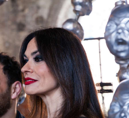 VENICE, ITALY - MAY, 10: IItalian actress Maria Grazia Cucinotta at Malta pavillon part of The 57th International Art Exhibition of La Biennale di Venezia on May 10, 2017
