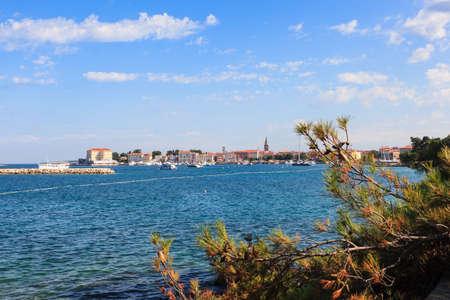 View of the summer sea in Porec, Istria. Croatia