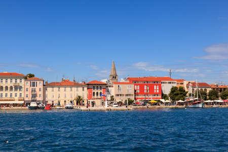 View of Porec skyline and sea , Istria. Croatia