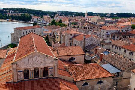 Topview of Euphrasian Basilica and Porec roofs