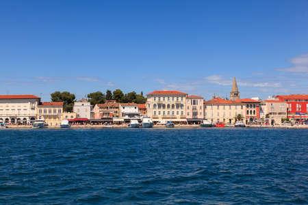 croatian: View of Porec skyline and sea , Istria. Croatia