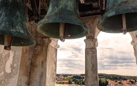 Bells of the Euphrasian Basilica in Porec, Istria. Croatia