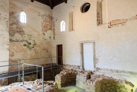 Archaeological site of the Euphrasian Basilica in Porec, Istria. Croatia