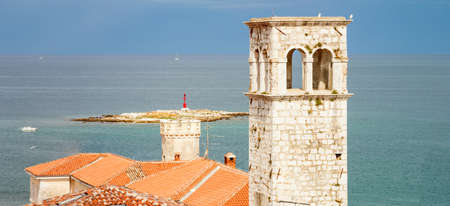View from the town tower in Porec, Istria. Croatia