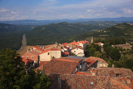 View of the Motovun roof, Typical Istrian town. Croatia