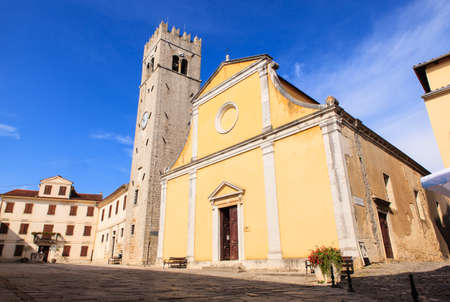 View of the The parish church of St. Stephen in Motovun, Isttria. Croatia Stock Photo