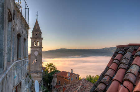 View of the Church of St.John the Baptist and Blessed Virgin Mary of the Gate, Motovun