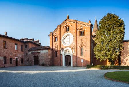 monastic: View of the Abbey of Viboldone, Milan. italy Stock Photo