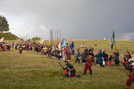 PALMANOVA, ITALY - SEPTEMBER, 03: Historical Groups dressed in ancient clothes during the historical Reenactment a.d. 1615 on September 03, 2017