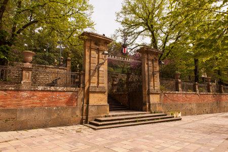 Entrance of the Garibaldi garden in Piazza Armerina